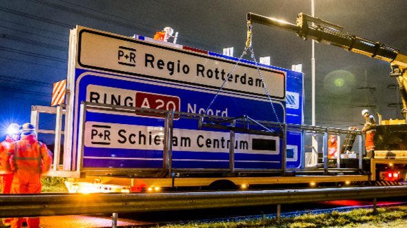 P+R clusterborden Rotterdam
