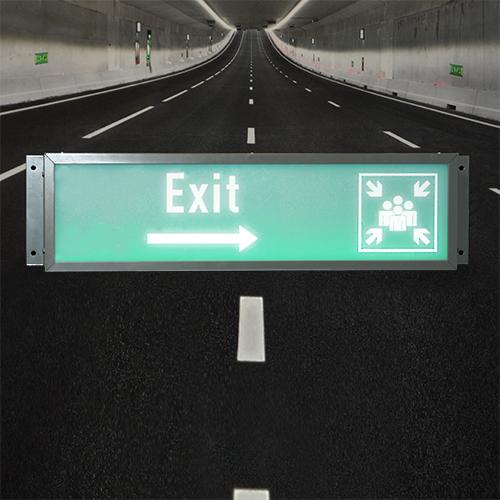 Dynamische Vluchtroute Indicatie Verkeersbuis