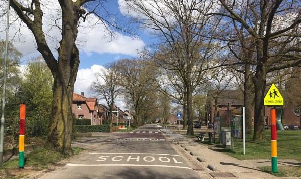 Straatmeubilair voor schoolzones